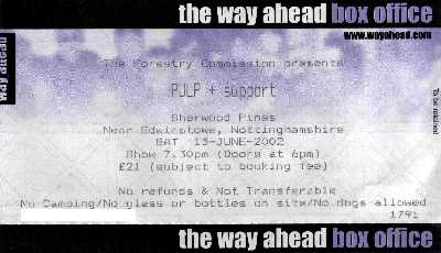 15 June 2002: Pulp - Sherwood Pines Forest Park, Nottingham, England, UK