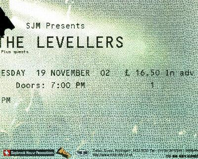 19 November 2002: Levellers - Rock City, Nottingham, England, UK