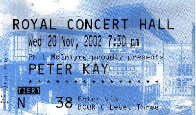 20 November 2002: Peter Kay