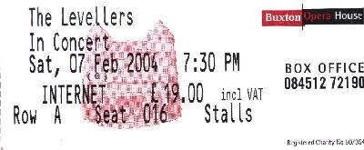 07 February 2004: Levellers + friends - The Opera House, Buxton, England, UK