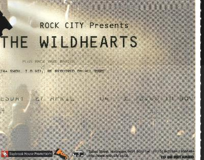 27 April 2004: The Wildhearts - Rock City, Nottingham, England, UK