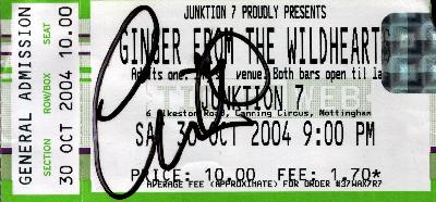 30 October 2004: Ginger + The Rockitts - Junktion 7, Nottingham, England, UK