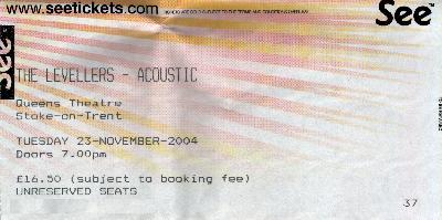 23 November 2004: Levellers - Queens Theatre, Stoke-on-Trent, England, UK