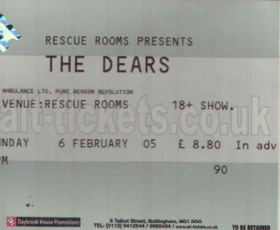 06 February 2005: The Dears + Ambulance Ltd - Rescue Rooms, Nottingham, England, UK