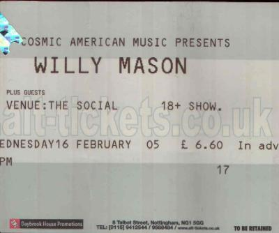 16 February 2005: Willy Mason - The Social, Nottingham, England, UK
