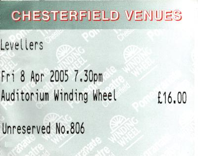 08 April 2005: Levellers - The Winding Wheel, Chesterfield, England, UK