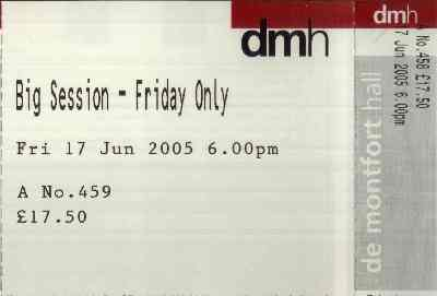 17 June 2005: Mark Chadwick + Rev Hammer - Big Session Festival, De Montfort Hall, Leicester, England, UK