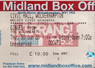 30 June 2005: Ginger - Civic Centre, Wolverhampton, England, UK