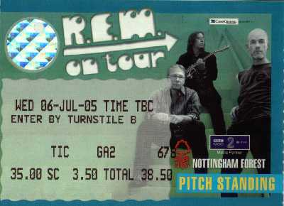 06 July 2005: R.E.M. + The Zutons + Idlewild - City Ground, Nottingham, England, UK