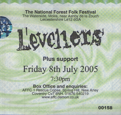 08 July 2005: Levellers - National Forest Folk Festival, Leicestershire, England, UK