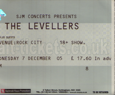 07 December 2005: Levellers - Rock City, Nottingham, England, UK