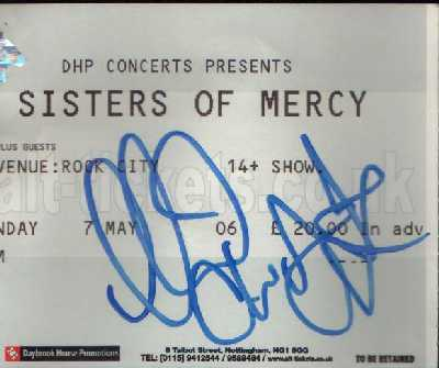 07 May 2006: The Sisters Of Mercy - Rock City, Nottingham, England, UK