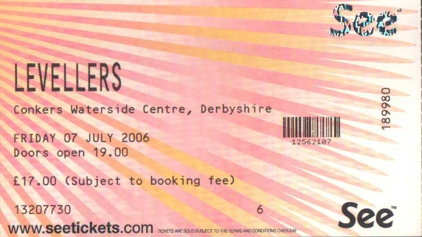 7 July 2006: Levellers - National Forest Folk Festival, Derbyshire, England, UK