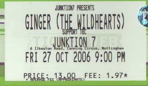 27 October 2006: Ginger - Junktion 7, Nottingham, England, UK