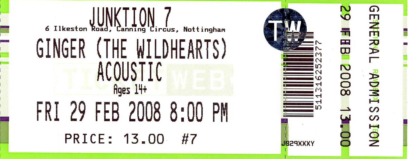 29 February 2008: Ginger + Eureka Machines - Junktion 7, Nottingham, England, UK