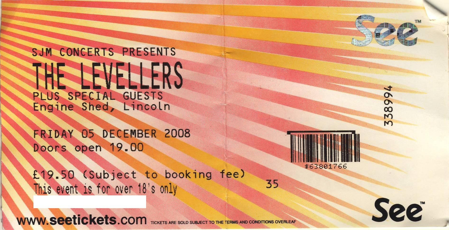 05 December 2008: Levellers + Divokej Bill + Frank Turner - Engine Shed, Lincoln, England, UK